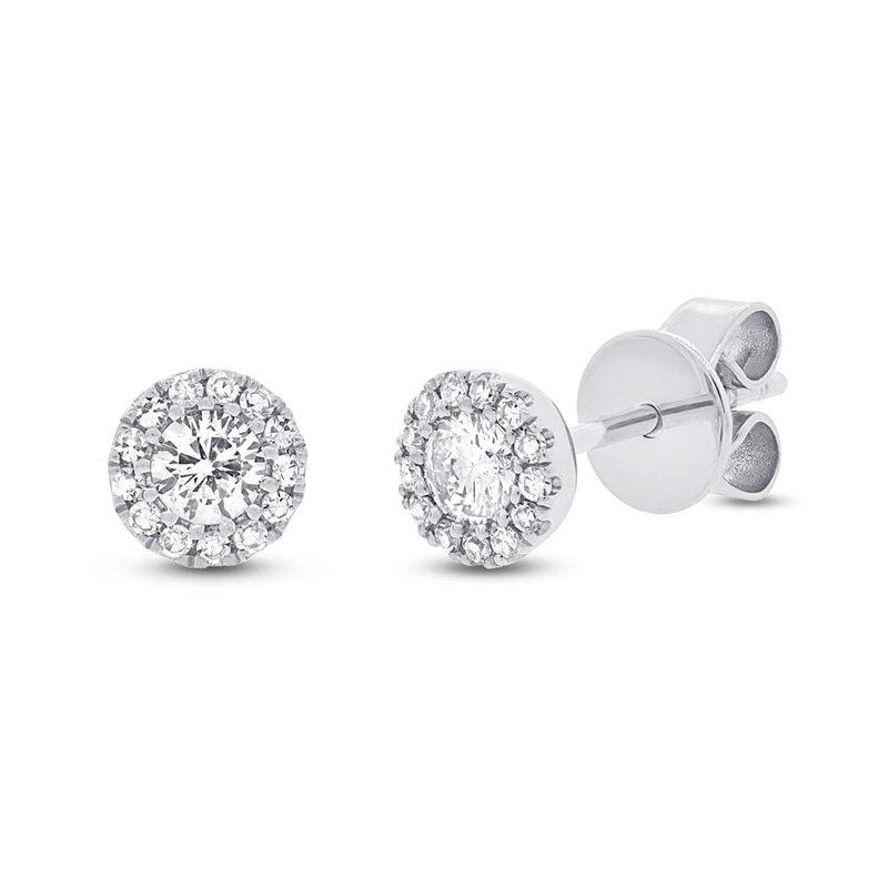 Lasker Diamond Fashion Halo Stud Earrings - .29cttw