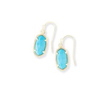Lee Gold Drop Earrings In Turquoise
