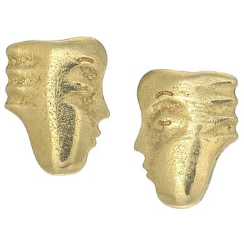 """Big Sleep"" Face earrings"