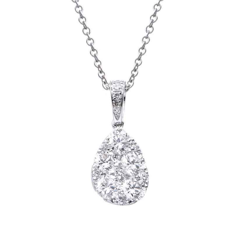 Lasker Diamond Fashion Pear Shaped Illusion Pendant