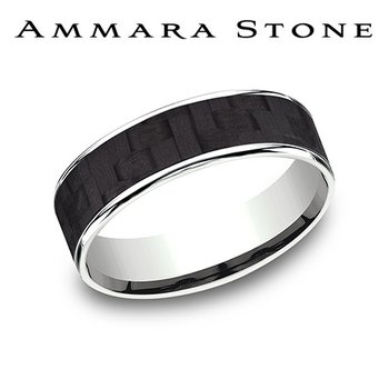 Ammara Stone Band - Carbon Fiber Inlay