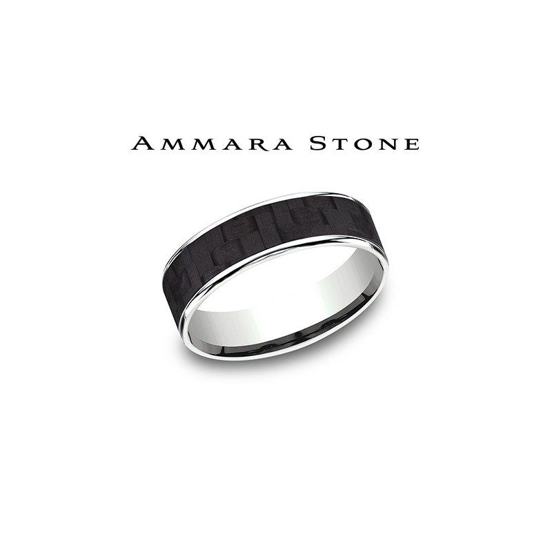 Lasker Men's Ammara Stone Band - Carbon Fiber Inlay