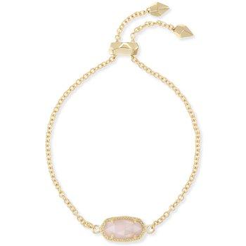 Elaina Adjustable Chain Bracelet In Ivory Pearl