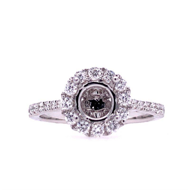 Lasker Bridal Round Halo Ring Mounting