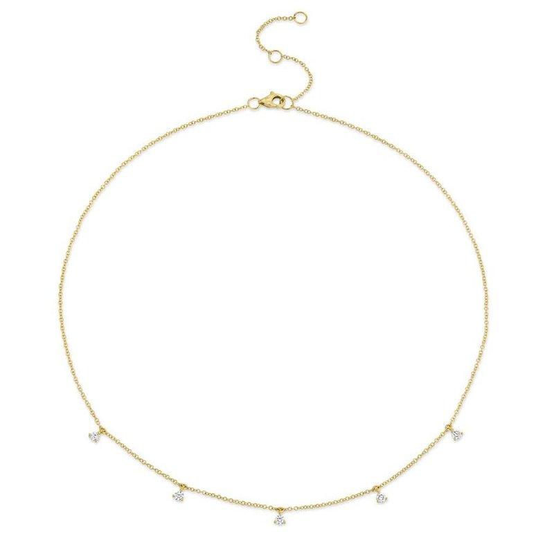 Lasker Diamond Fashion Milestone Diamond Drop Necklace
