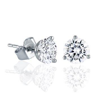 Fire & Ice Diamond Studs - 1cttw