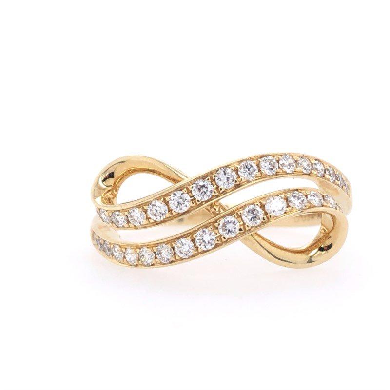Lasker Diamond Fashion Infinity Wave Fashion Ring