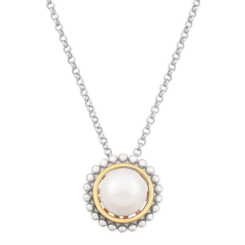 Lasker Pearl Fashion Palline' Button Peal Pendant