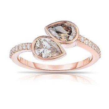 Cognac Diamond 2-Stone Ring