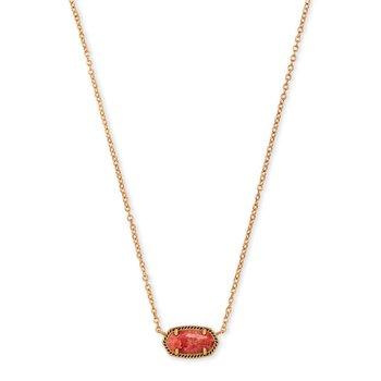 Elisa Necklace Vintage Gold with Burnt Sienna