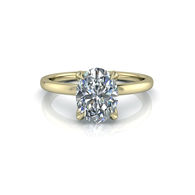 Martin Flyer Oval Solitaire Ring