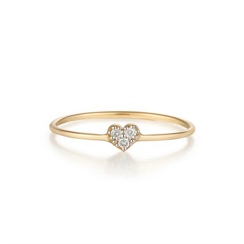 Aurelie Gi Sophie Diamond Heart Ring