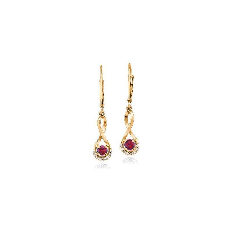 Lasker Gemstone Ruby Earrings