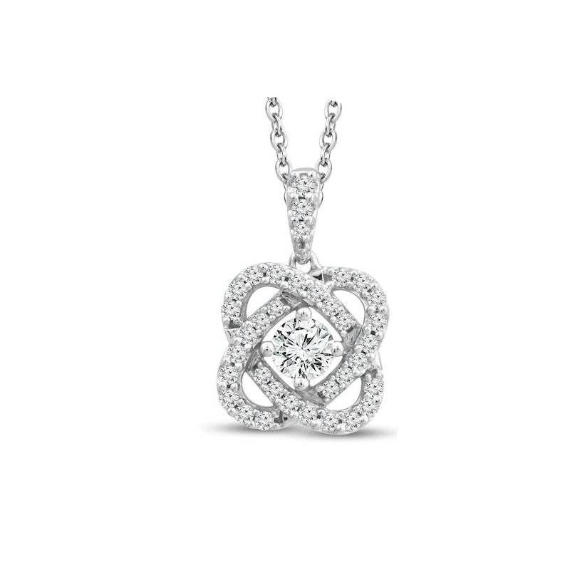 Lasker Diamond Fashion Only You Diamond Pendant - 1/2cttw