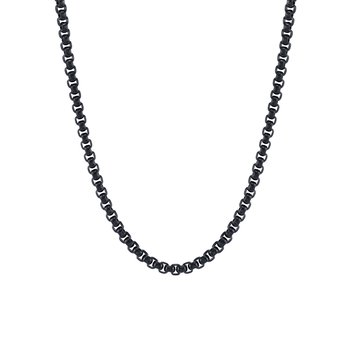 Black IP Square Rolo Chain
