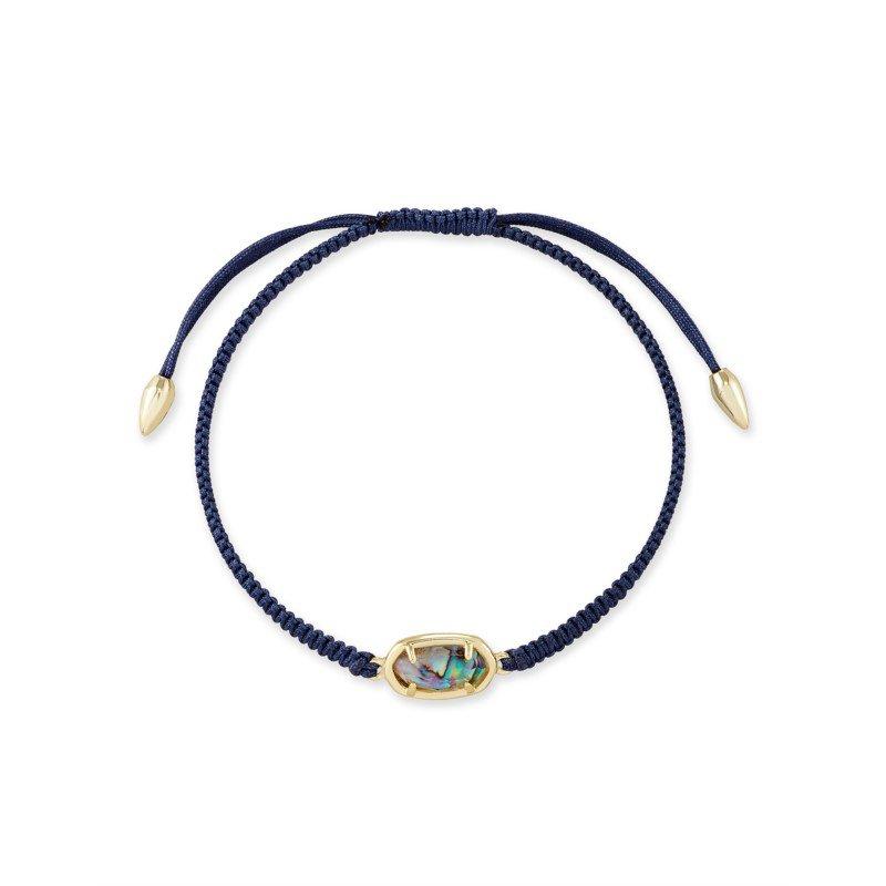 Kendra Scott Grayson Navy Friendship Bracelet In Nude Abalone