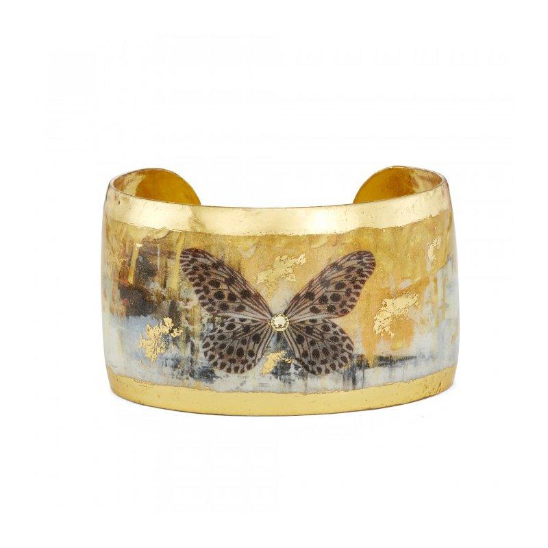 Evocateur Gold Rush Butterflies Cuff