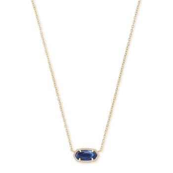 Elisa Necklace Gold with Cobalt Howlite