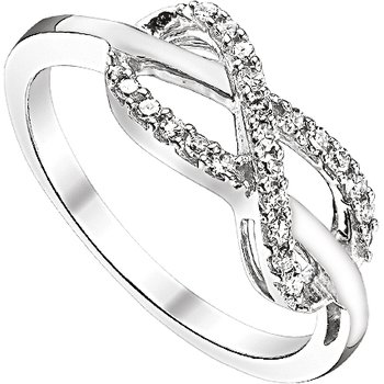 STERLING SILVER RING WITH .14CTTW DIAMONDS