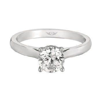 Solitaire Engagement Mounting for a Round Center
