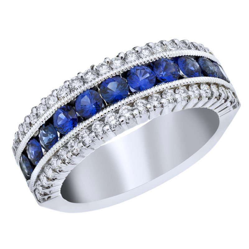 Lasker Gemstone Sapphire and Diamond Ring
