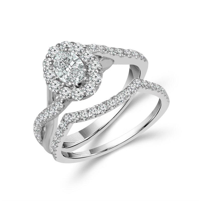 Lasker Bridal Lasker Value!!  1.25cttw Oval Engagement Set