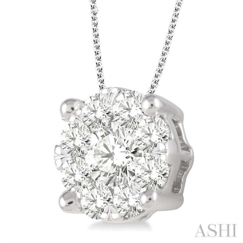 Lasker Diamond Fashion Lovebright Diamond Pendant - 2CTTW