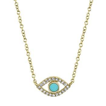 Evil Eye Turquoise Pendant