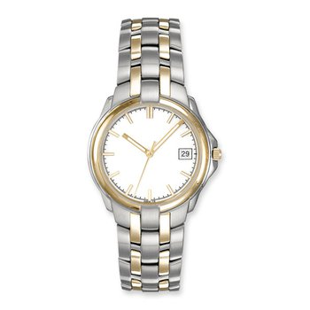 Lasker Steel & Gold-Toned Timepiece