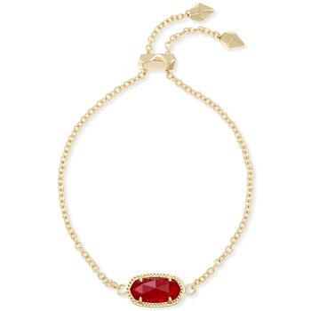 Elaina Adjustable Chain Bracelet In Ruby Red