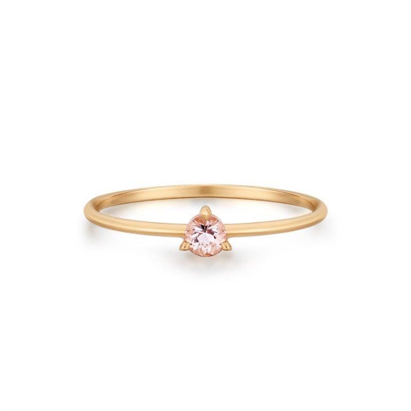 Aurelie Gi Blossom Morganite Solitaire Ring