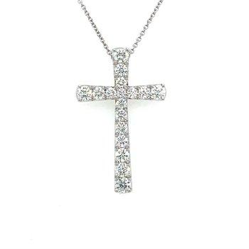 Graduated Diamond Cross Pendant