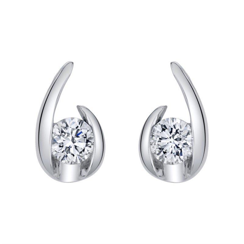 Lasker Diamond Fashion Hooked On Love Earrings