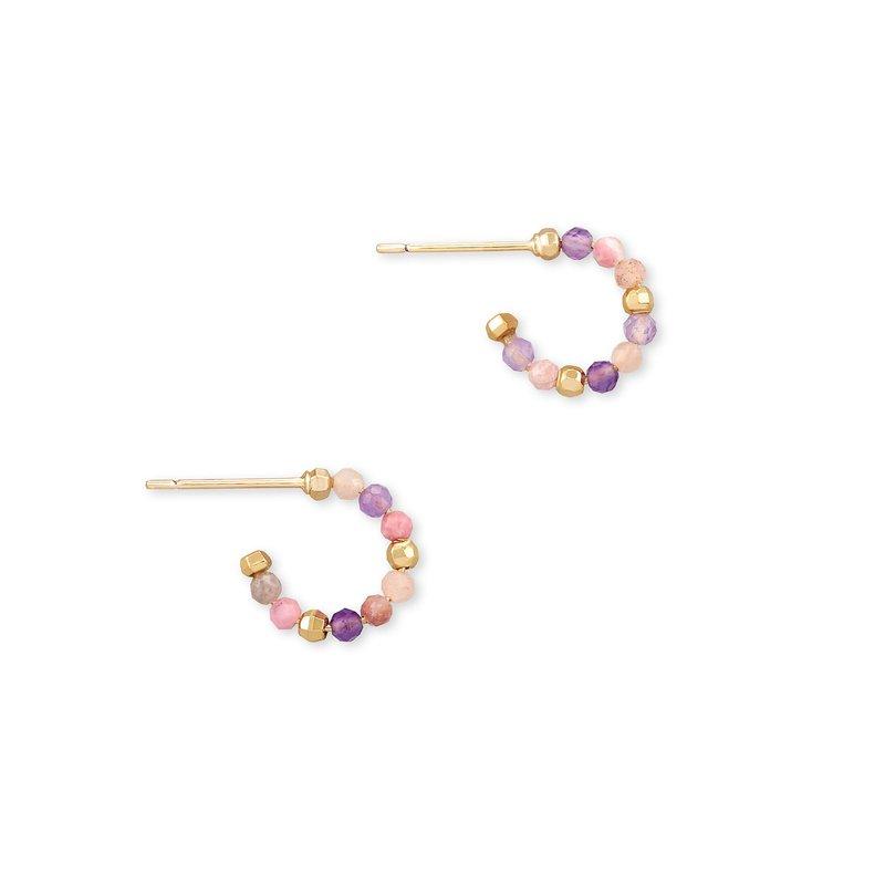 Kendra Scott Scarlet Huggie Earring Pastel Mix In Yellow