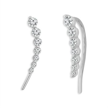 Hot Trend - Diamond Ear Climbers