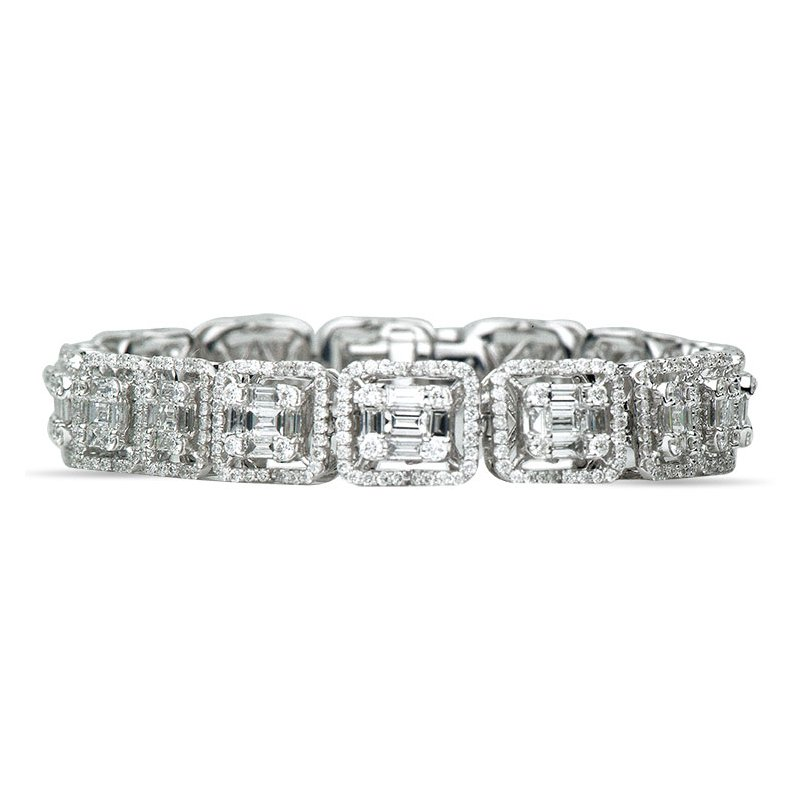 Lasker Diamond Fashion Vintage Mosaic Bracelet