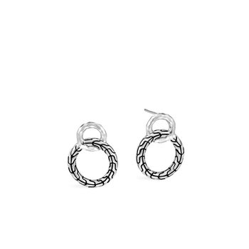 Classic Chain Interlinking Stud Earrings