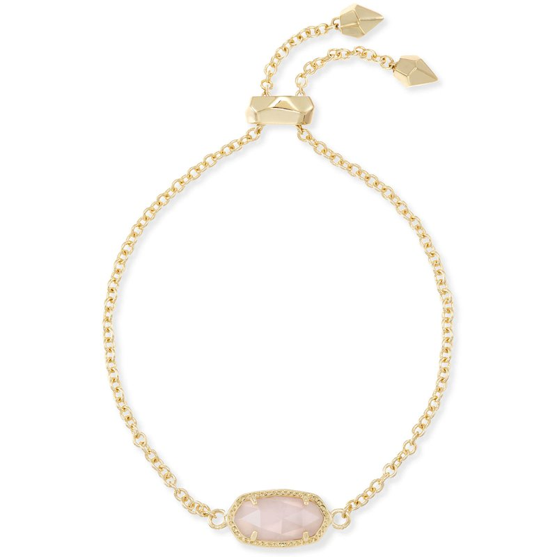 Kendra Scott Elaina Adjustable Chain Bracelet In Ivory Mother-of-Pearl