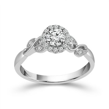 Floral Halo Ring