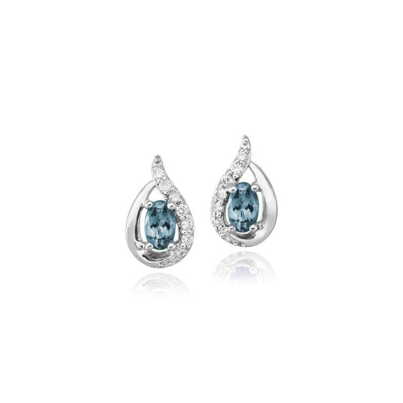 Lasker Gemstone Aquamarine Earrings