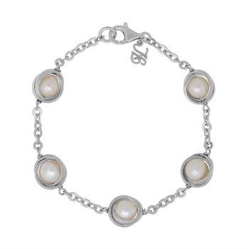 Honora Sterling & Pearl Bracelet