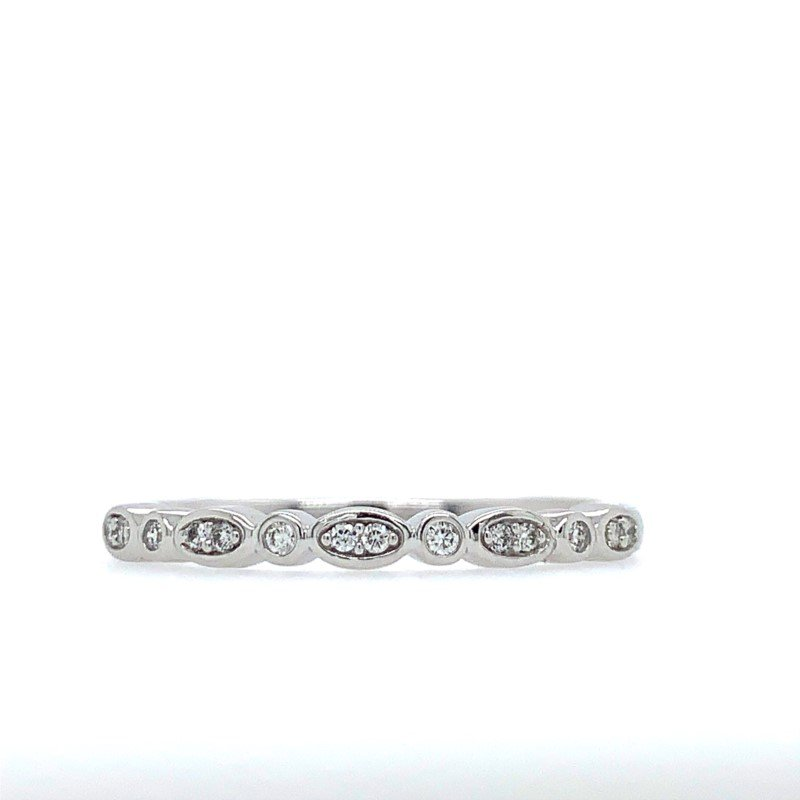 Lasker Bridal Diamond Stackable Band