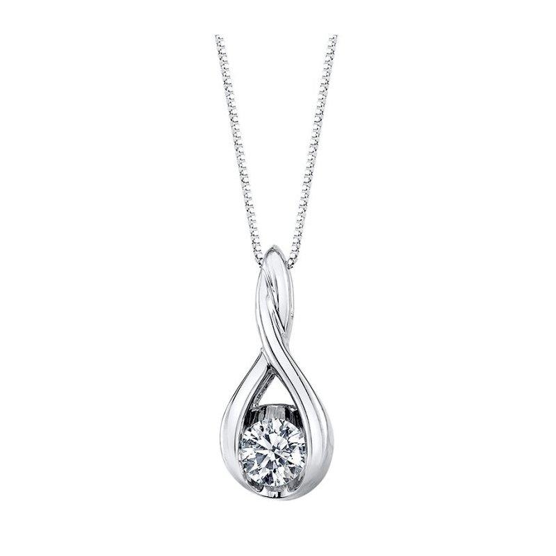 Lasker Diamond Fashion Weave Solitaire Pendant