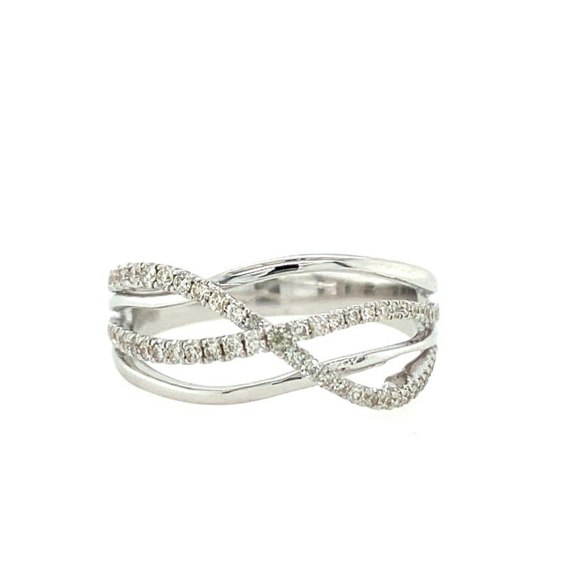 Lasker Diamond Fashion Criss Cross Diamond Ring