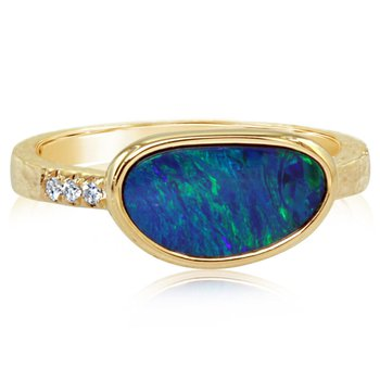 East-West Opal Ring