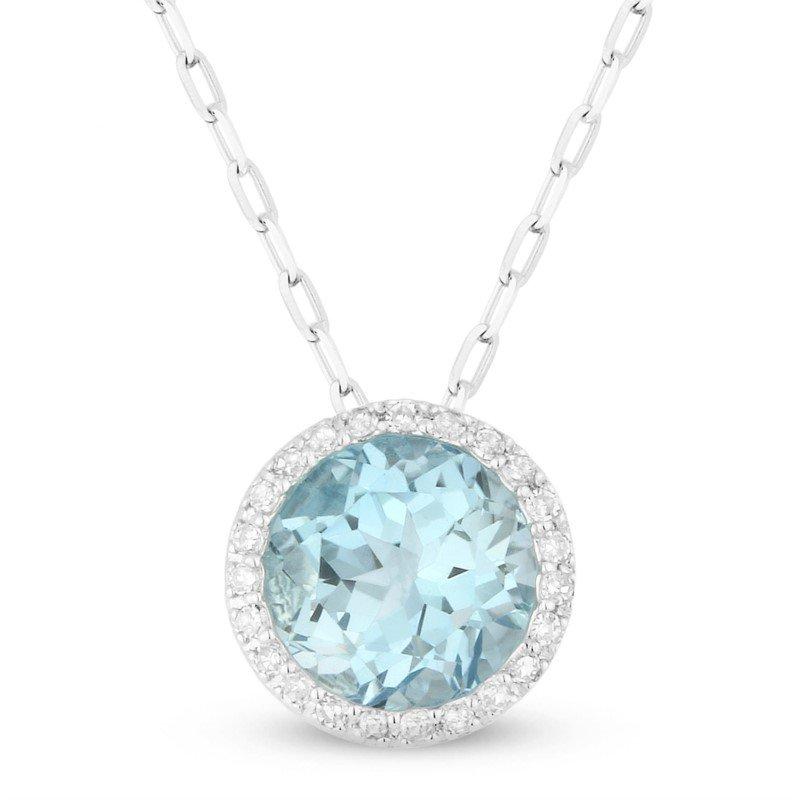 Lasker Gemstone Center of My World Blue Topaz Pendant