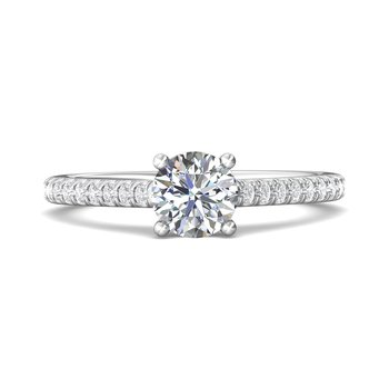 Classic Pave Engagement Ring Mounting for Round Center