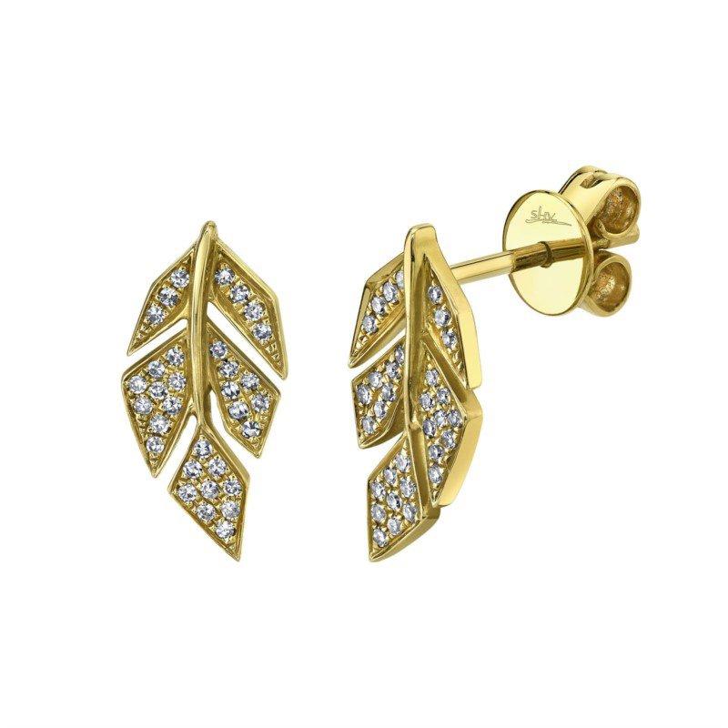 Lasker Diamond Fashion Leaf Earrings