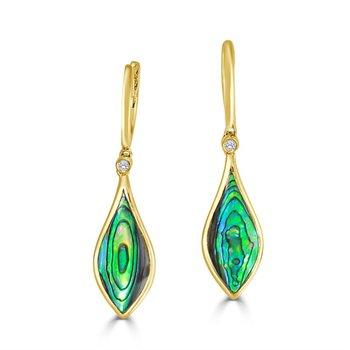Venus Drop Abalone Earrings