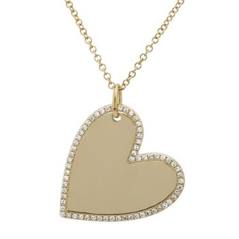 Full Heart Pendant with Diamonds